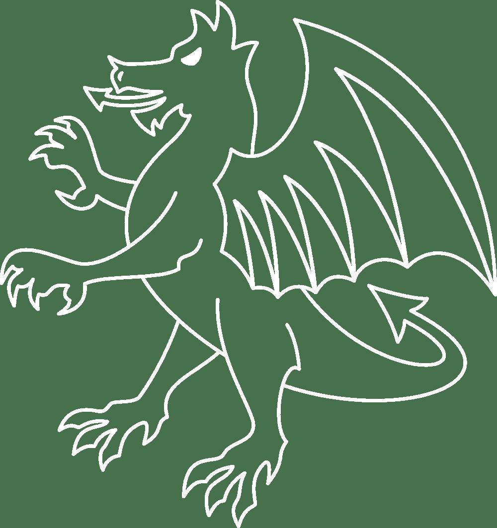 Dragon outline illustration